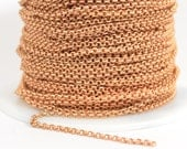 2.0mm Rolo Chain - Matte Rose Gold - 2.0mm Links - CH48 - Choose Your Length