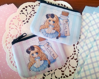Alice in Wonderland chibi coin purse / wallet