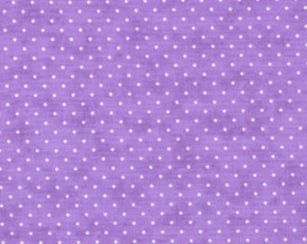 ESSENTIAL DOTS Moda by the half yard cotton quilt fabric cream dots on LAVENDER lilac 8654 32