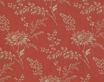 FRENCH GENERAL FAVORITES Moda by the half yard cotton quilt fabric oyster flowers on rouge red 13527-32