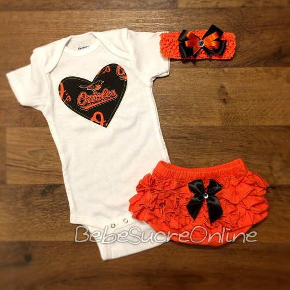 Baltimore Orioles Outfit and Headband by BebeSucreOnline on Etsy
