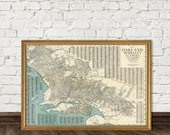 Oakland map - Old map of Oakland (CA) fine reproduction