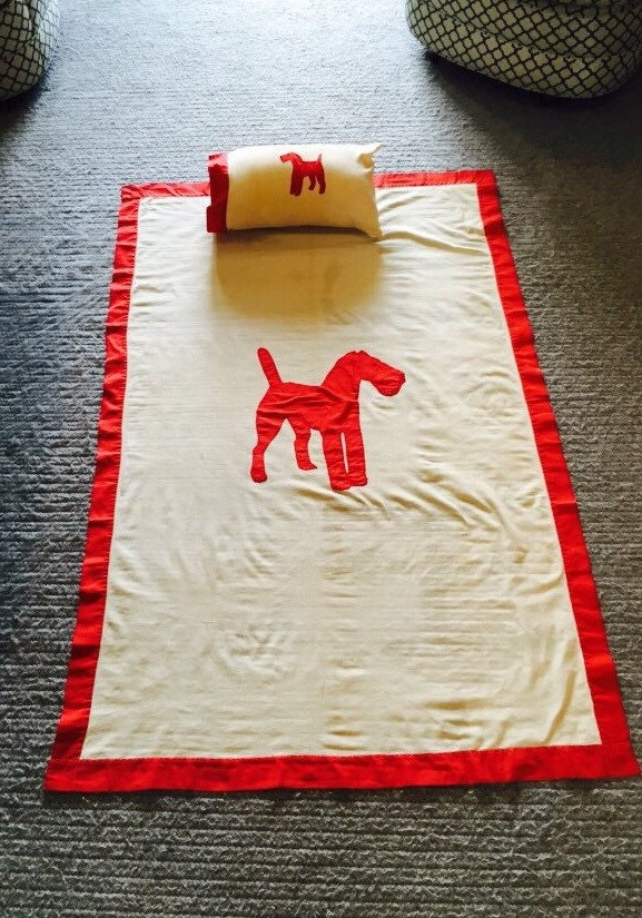 Vintage Amp Handmade Toddler Bed Or Crib Dog Coverlet