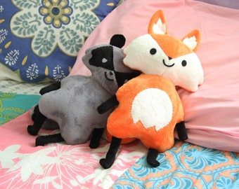 Cute Fox Plush Toy  Doll - Woodland Creature Series