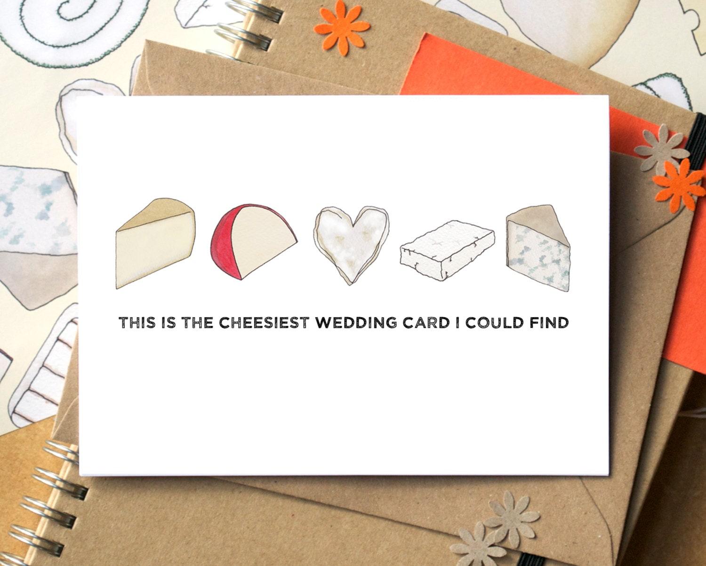 Cheesy Wedding Card Funny Wedding Card Wedding Card For