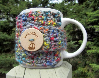 Petoskey Up North Michigan Coffee Cup Cozy - Perfect for Gift Giving or Keeping and Environmentally Friendly