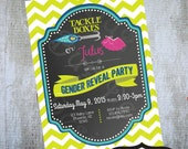 Tackle Box or Tutu Gender Reveal Party Invitation Printable Baby Shower by Luv Bug Design