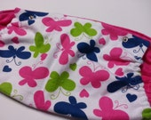 Pink and Purple Butterfly Flannel Tula Hood and Reach Straps