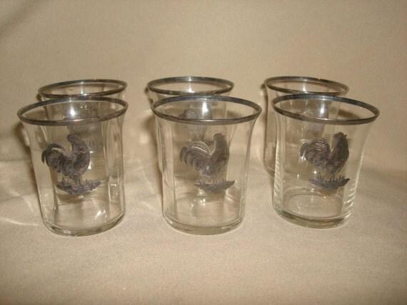 set of 6 vintage cambridge glass sterling by. Black Bedroom Furniture Sets. Home Design Ideas