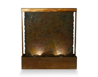 Tabletop Fountain | Rajah Slate with Bronze patina | Water Feature