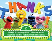Sesame Street Thank you Card, Abby Party, Big Bird Thank you Note