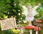 Personalize Fairy Invitation, Fairy Party, Add Wings, Fairy Princess Invite