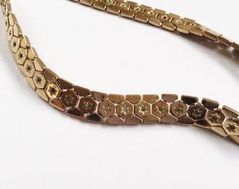 Trifari Pat.Pending Vintage Necklace with Blue Star Rhinestones