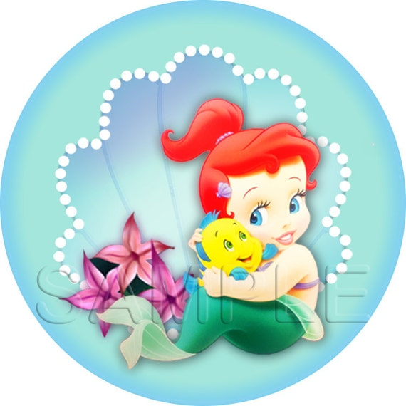 Disney Baby Princess Ariel - The Little Mermaid Stickers / Cupcake ...