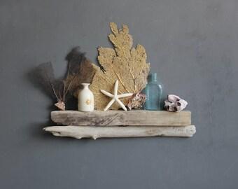 Natural Driftwood Shelf - Mantle // Size MEDIUM