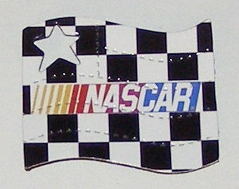 NASCAR Checkered Flag Magnet - NOT a Soda Can - Printed Graphic on Glossy Photo Paper