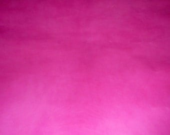 "Leather 8""x10"" CALFSKIN Raspberry Sorbet Smooth and medium to firm temper leather fabric 2.5-3 oz / 1-1.2 mm PeggySueAlso™ E1810-02"