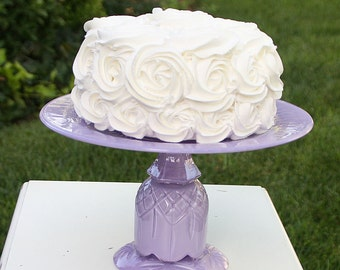 Lavender Shabby Chic Vintage Reclaimed Cupcake Stand Serving Platter