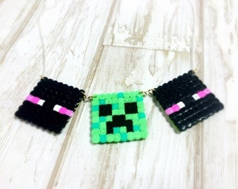 Creepers VS Enderman Minecraft necklace