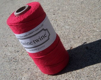 Bakers Twine - Divine Twine - 100% Cotton - New Solid Cherry Red - ONE Color - Your Choice of Length