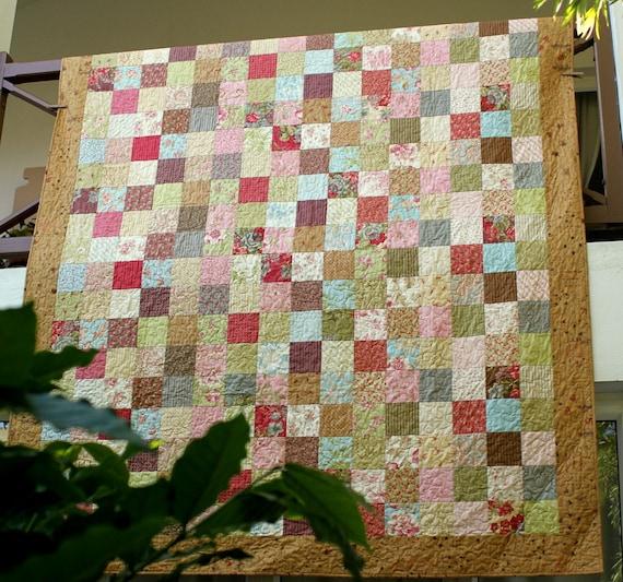 Double Bed Quilt Twin Quilt Patchwork Quilt Cottage Chic : patchwork quilt twin - Adamdwight.com
