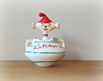 Vintage Ketchup Pixie Davar 1959 Kitchen Collectables Pixieware Holt Howard
