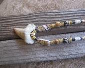Shark tooth necklace, fossiized shark tooth, tribal jewelry, hawaiian jewelry, tropical jewelry, shell jewelry, ocean jewelry, shark teeth