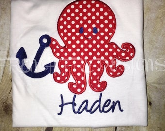 Customized Octopus Anchor Personalized T-Shirt