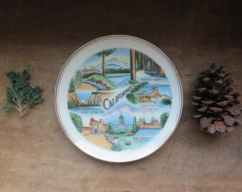Vintage Centennial Novelty Los Angeles Made in Japan State of CALIFORNIA Collector Plate