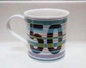 50th Birthday Dunoon Fine Bone China Kate Mawdsley Coffee Tea Mug Cup ENGLAND