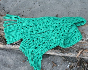 Rapids Scarf knitting pattern, instant download