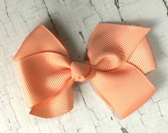 Boutique Hair Bows- Creamsicle - 3 inch Hair Bow, Boutique Bow, Babies Toddler Girls Women