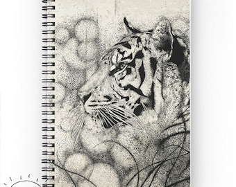 Tiger Notebook, Spiral, Ruled or Graph Paper