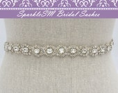 Bridal Sash, Wedding Sash, Bridal Belt, Crystal Bridal Sash, Rhinestone Sash, Jeweled Belt, Bridal Belt, Wedding Gown Belt, Bridal Sash -Mae