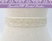 Rhinestone Bridal Sash, Rhinestone and crystal Wedding belt, Rhinestone satin sash, Jeweled and beaded sash, Bridal Accessories Lexie