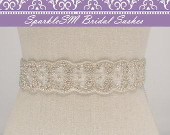 Wedding Sash, Bridal Belt, Bridal Sash, Crystal Sash, Rhinestone Sash, Jeweled Belt, Bridal Belt, Wedding Dress Sashes, Crystal Bridal Sash