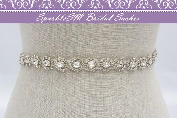 Bridal Sash, Wedding Sash, Bridal Belt, Crystal Bridal Sash, Rhinestone Sash, Jeweled Belt, Bridal Belt, Wedding Gown Belt, Bridal Sash -Mae