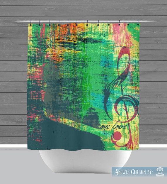 Bob Marley Shower Curtain: One Love Rasta Reggae | Made in the USA ...