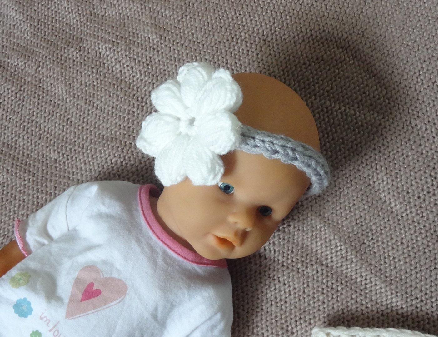 Knitting Headband For Baby : Knit baby headband girls children s by ifonka