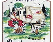 Travel trailers signs, camping signs, rv signs, personalized
