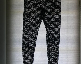 black sheer leggings pants size med