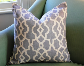 Schumacher Summer Fret Palace Pillow Cushion Cover 20 Inch