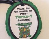 Turtles inspired favor tags, Ninja Turtles favor tags
