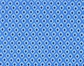 Michael Miller Fabric for quilt or craft Origami Oasis collection by Tamara Kate Spot in Blue Half yard