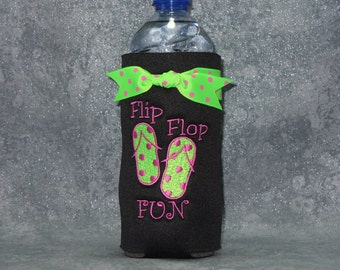 Bottle, Beverage Holder, Flip Flops, Water Bottle Cozy