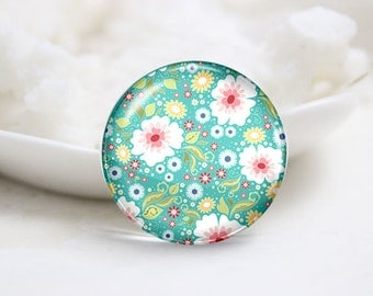 10mm 12mm 14mm 16mm 18mm 20mm 25mm 30mm Handmade Round Photo Glass Cabochon-Flower (P1409)