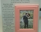 GROOMS Parents from the Bride Wedding Picture Frame Personalized Thank You for your LOVE 13x13