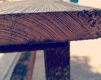 Bench, wood bench, reclaimed  Longleaf wood bench, farmstyle bench, rustic bench(Or Best Offer) Sale* Sale * Sale-