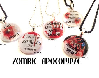 Zombie Apocolypse Custom Pendants