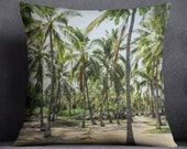 Palm trees pillow cover - pillow cover - Hawaii accent pillow cover - City of refuge Hawaii pillow cover - beach pillow cover - Hawaii